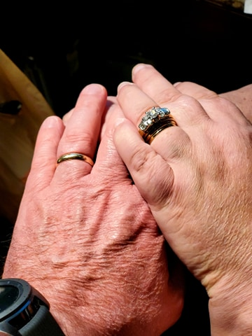 23 years of marriage hands